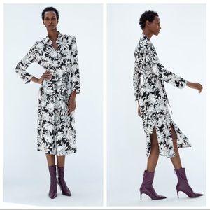 NWT. Zara long printed tunic dress. Size XXL.